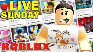 🔴 ROBLOX LIVE STREAM! #WOOF | Jailbreak, Build Battle & More! (Sunday Live)
