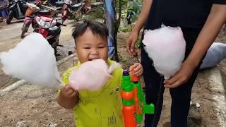 Trò Chơi Bé Vui Bông Gòn Khổng Lồ ❤ ChiChi ToysReview TV ❤ Đồ Chơi Trẻ Em Bài Hát Vần Thơ Cho Bé