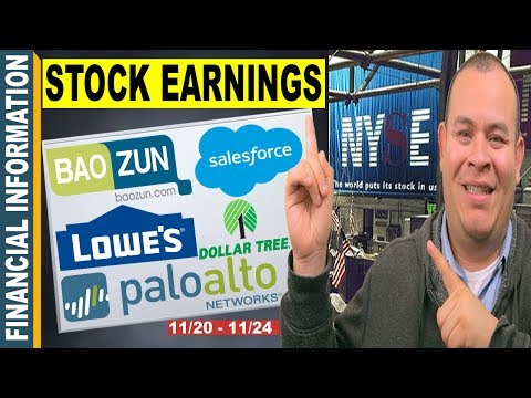 November Stocks Earnings📊| Baozun, Lowes, Salesforce, Dollar Tree, John Deere, Palo Alto Networks