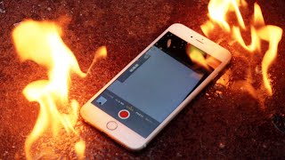 Burning The iPhone 6 Plus - Molotov Cocktail Edition