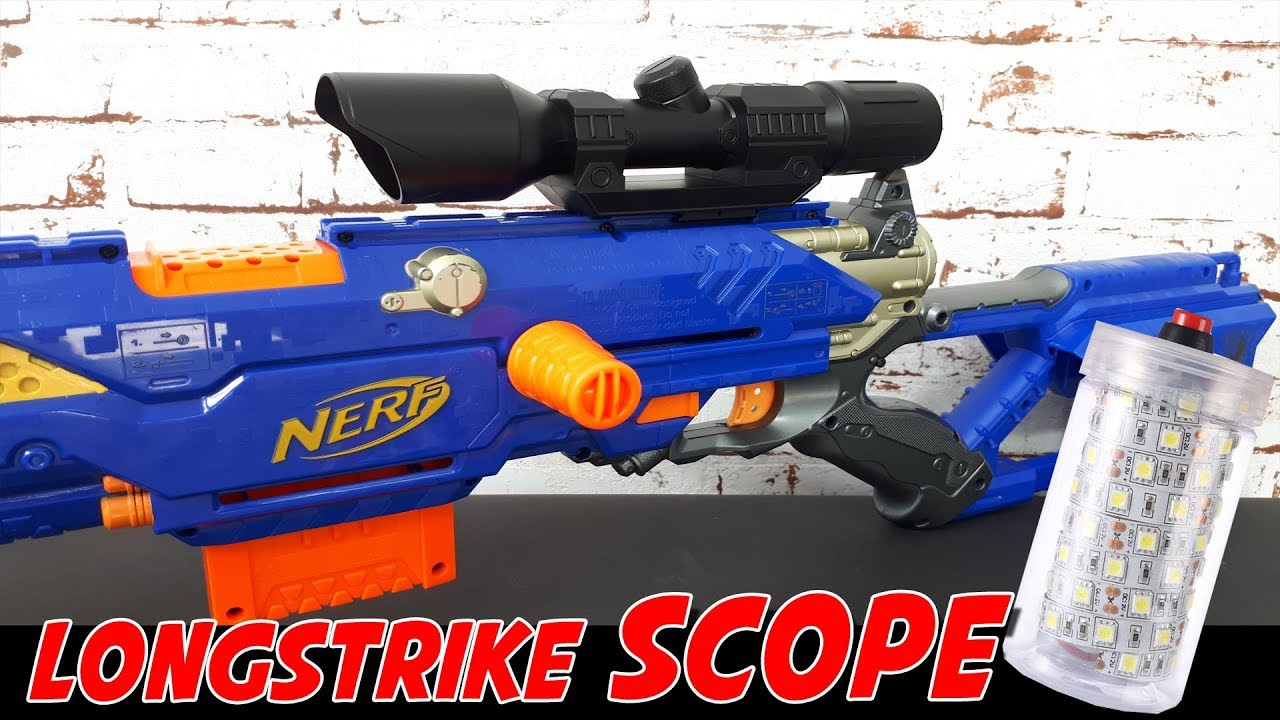 Nerf longstrike zielfernrohr scope softair flash bomb granate