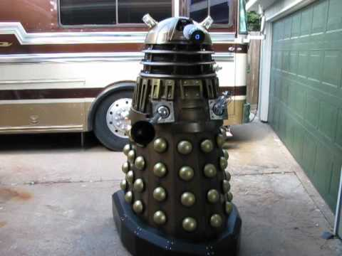 DIY Dalek Doctor Who Tim the Dalek Homemade - YouTube