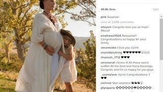 Pink announces she's pregnant with second baby