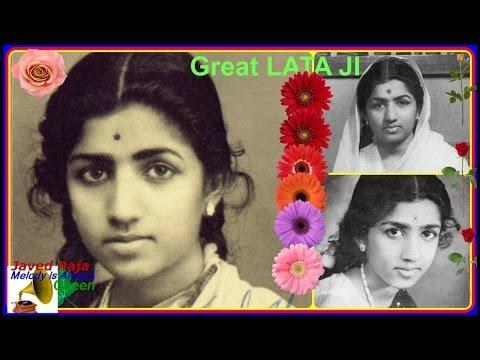LATA JI-Film-ANJALI-1957-Kis Kis Ko Deepak Pyaar Kare Jab Laakh Patange Jalte Hon-[ Great Gem,On