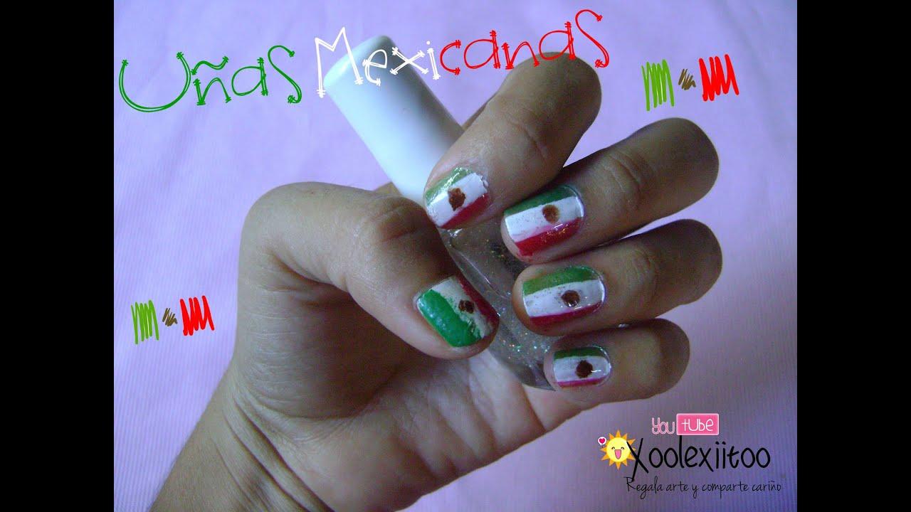 xoOlexiitOo... ❥DIY: Uñas Mexicanas/ Bandera de México - YouTube