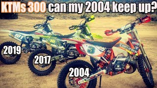 Gnarly hills climbs on 3 KTM 300 - can my 2004 build keep up with new bikes?