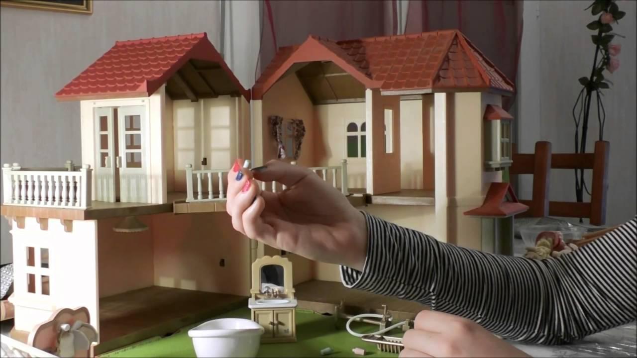 la grande maison clair e des sylvanians part 2 sylvanian family house with light part 2. Black Bedroom Furniture Sets. Home Design Ideas