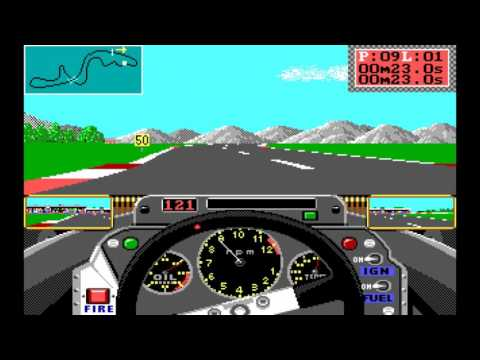 Grand Prix Circuit Retro Gameplay 1988