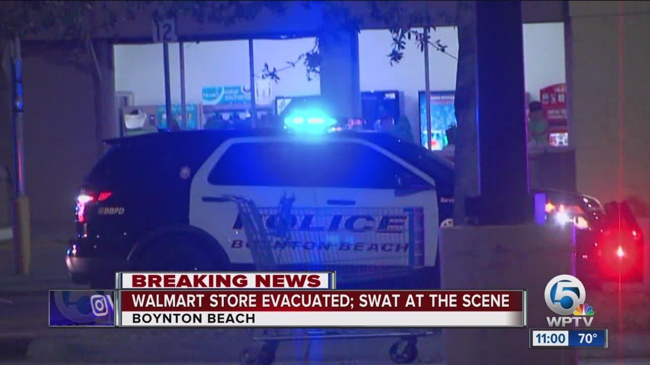 9b3ca37bc3 Walmart store evacuated in Boynton Beach - YouTube