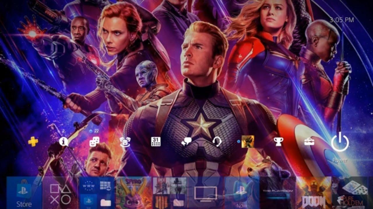 How To Get Avengers Endgame Custom Ps4 Theme Wallpaper Using Sharefactory