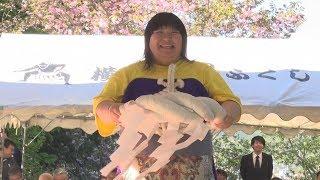 母の日、女相撲に声援 2横綱生んだ北海道福島町