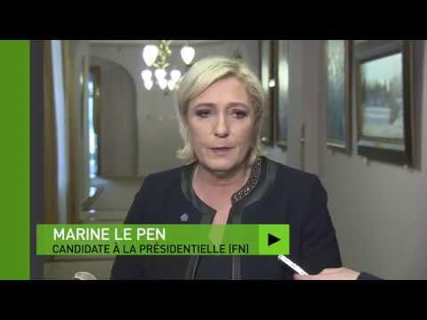 Marine Le Pen : «Je vais laisser Monsieur Fillon se bagarrer avec le président de la République»