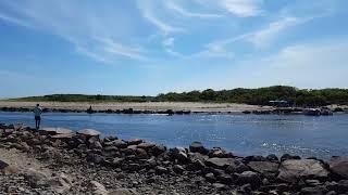 Charlestown breachway Campground Rh๐de Island 2018