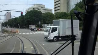富山ライトレール TLR0600形(TLR0603) 富山駅北~インテック本社前 前面展望