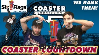 We Rank Them! Six Flags Great America - Coaster Countdown!