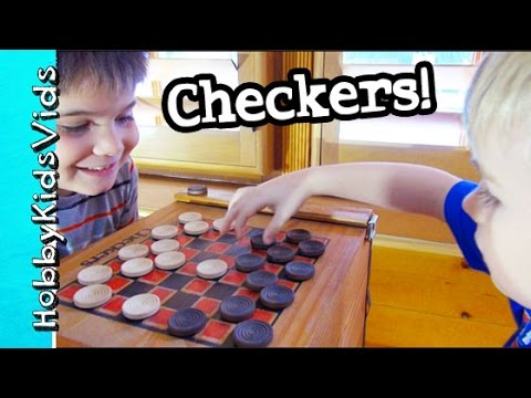 Learn to Play Checkers with HobbyPig and HobbyFrog by HobbyKidsVids