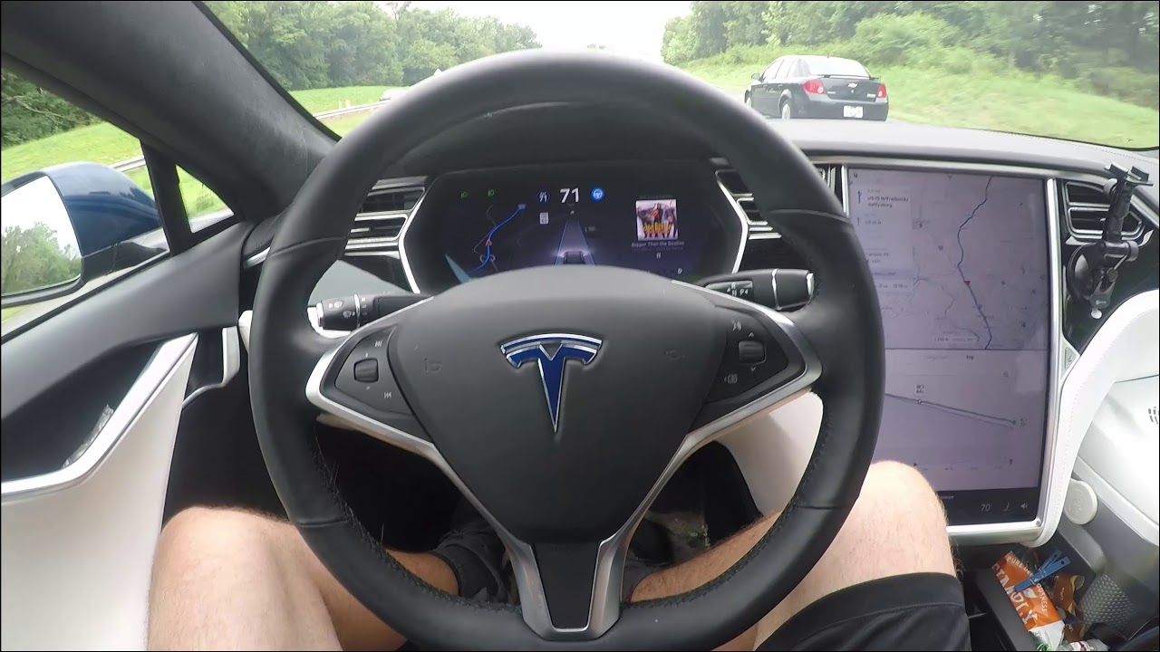 TESLA Traffic Aware Cruise Control (TACC) vs Enhanced Auto ...