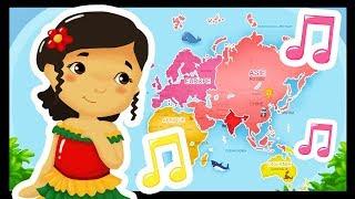 Les pays du monde audio - Chansons pour chanter dans les écoles