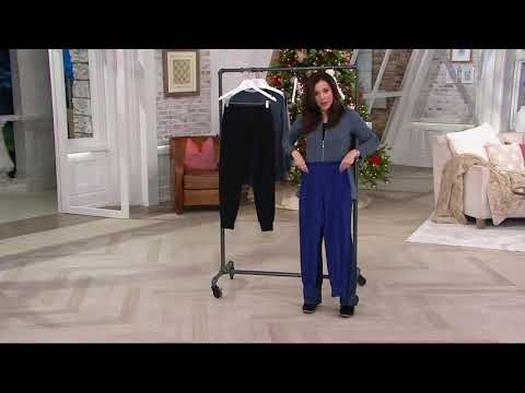 Denim & Co. Active Pull-On Knit Jogger Leggings on QVC