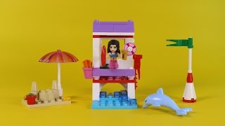 "Lego Friends Emma's Lifeguard Post Animated Building Instructions (41028 Stop Motion ""how To"")"