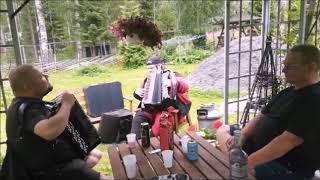 Kallen, Jussin, Karin ja Jorman soittoa Etelä-Savossa