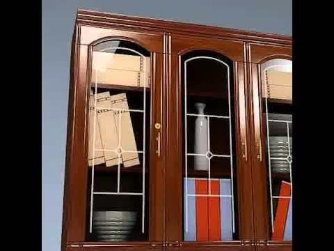 3D Model of Breakfront Cabinet