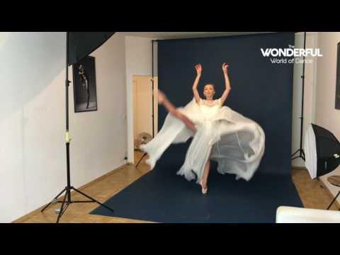 Iana Salenko cover photoshoot behind the scenes for The Wonderful World of Dance Magazine