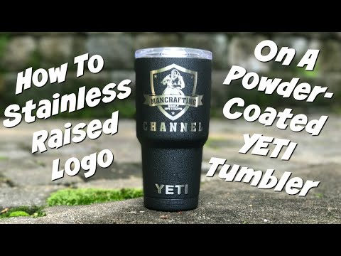 How to Reveal YETI logo on Powdercoated Tumbler | Bonus Tip