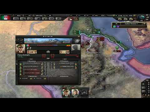 Hearts Of Iron IV - Italy - War in Ethiopia - Part 1 - No commentary