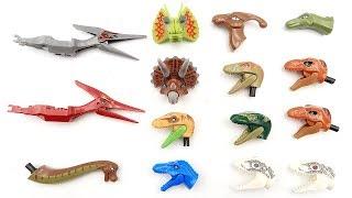 Who's Dinosaur Head? Jurassic World 2 Dinosaur Lego Toys!  Dinosaurs Toys for Kids
