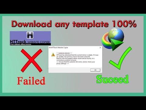 Httrack Mirror Empty Problem Alternative   Use IDM Grabber  To Download Templates [Free 100%]