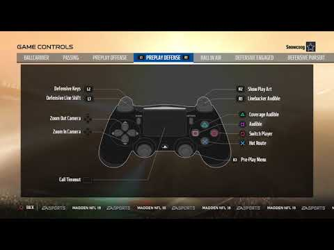 Button layout and controls for Madden 18 (PS4)