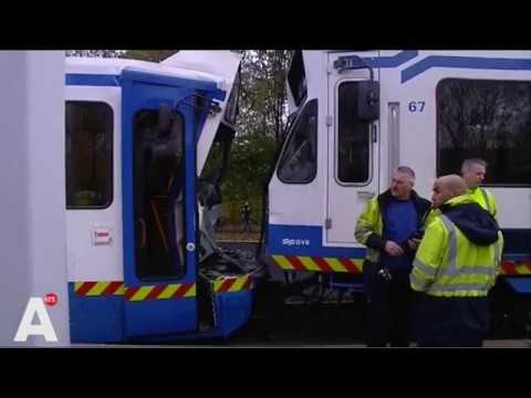 Botsing tussen sneltram 51 en tram 5 in Amstelveen
