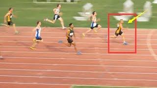 未来的博尔特?加速冲刺步频都非常快,15岁百米甩开对手2米夺冠.