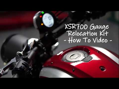 Brogue Motorcycles XSR700 Gauge Relocation Kit (How To Video)