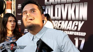 Michael Pena does hilarious impression of Robert Garcia! Hyped for Broner vs. Garcia!