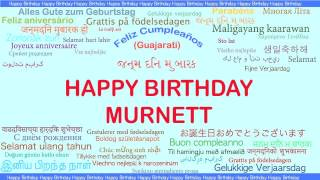 Murnett   Languages Idiomas - Happy Birthday