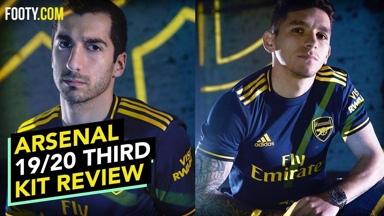Arsenal 2019 20 Adidas Third Shirt Kit Review Youtube
