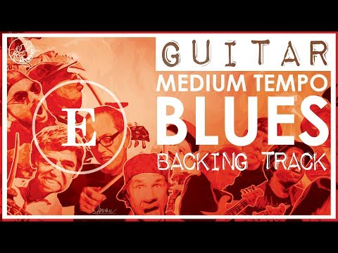 Medium Blues Backing Track in E