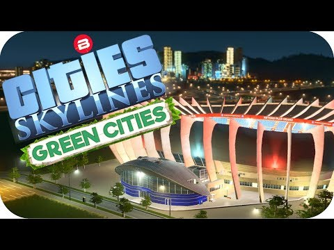Cities: Skylines Green Cities ▶FARMING DISTRICT & STADIUM◀ Cities Skylines Green City DLC Part 22