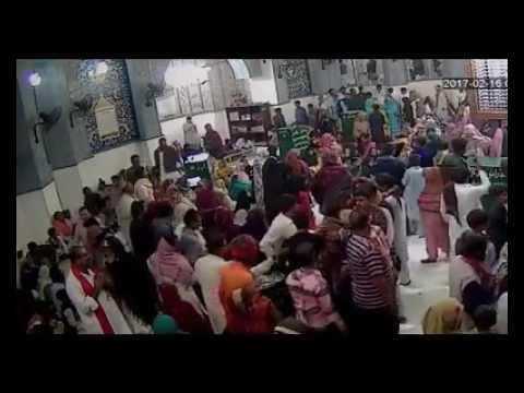CCTV Footage of Blast at Lal Shahbaz Qalander Shrine Sehwan Shareef