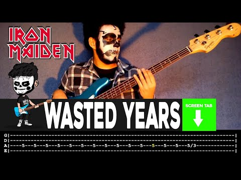 Iron Maiden - Wasted Years (Bass Cover by Cesar Dotti W/Tab)