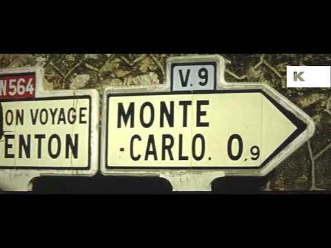 1950s, 1960s Monaco and Monte Carlo, 16mm Home Movies