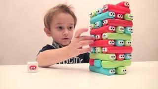 Игра для детей БАШНЯ ИЗ ГУСЕНИЦ Распаковка игры ИГРАЕМ В НАСТОЛЬНУЮ ИГРУ Видео для детей
