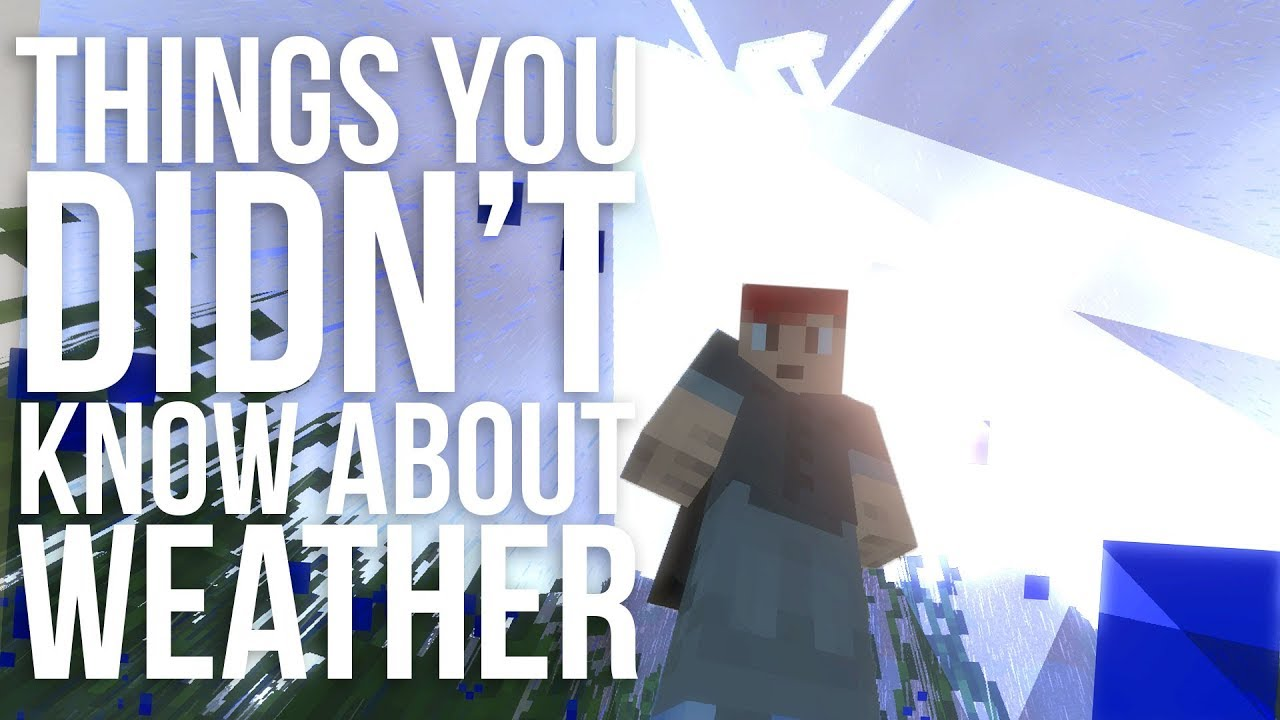 Things You Didn't Know About Minecraft Weather - YouTube