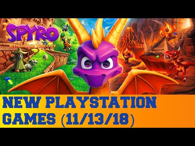 New PlayStation Games for November 13th 2018