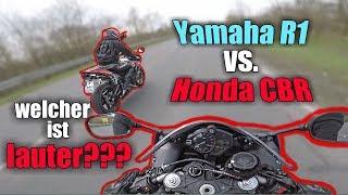 Yamaha R1 vs Honda Cbr | Motovlog mit Life of Danny | Akrapovic oder Bodis?