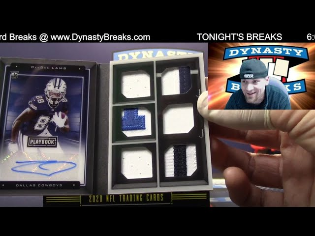 2020 Playbook Football Card 8 Box Case Break #3   Sports Cards