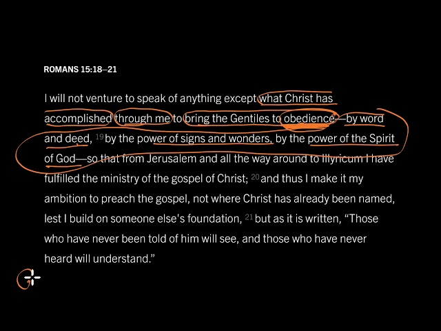 Romans 15:18–21 // How God Uses Missionaries