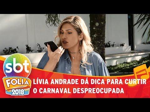 Lívia Andrade ajuda amiga a curtir o carnaval tranquila